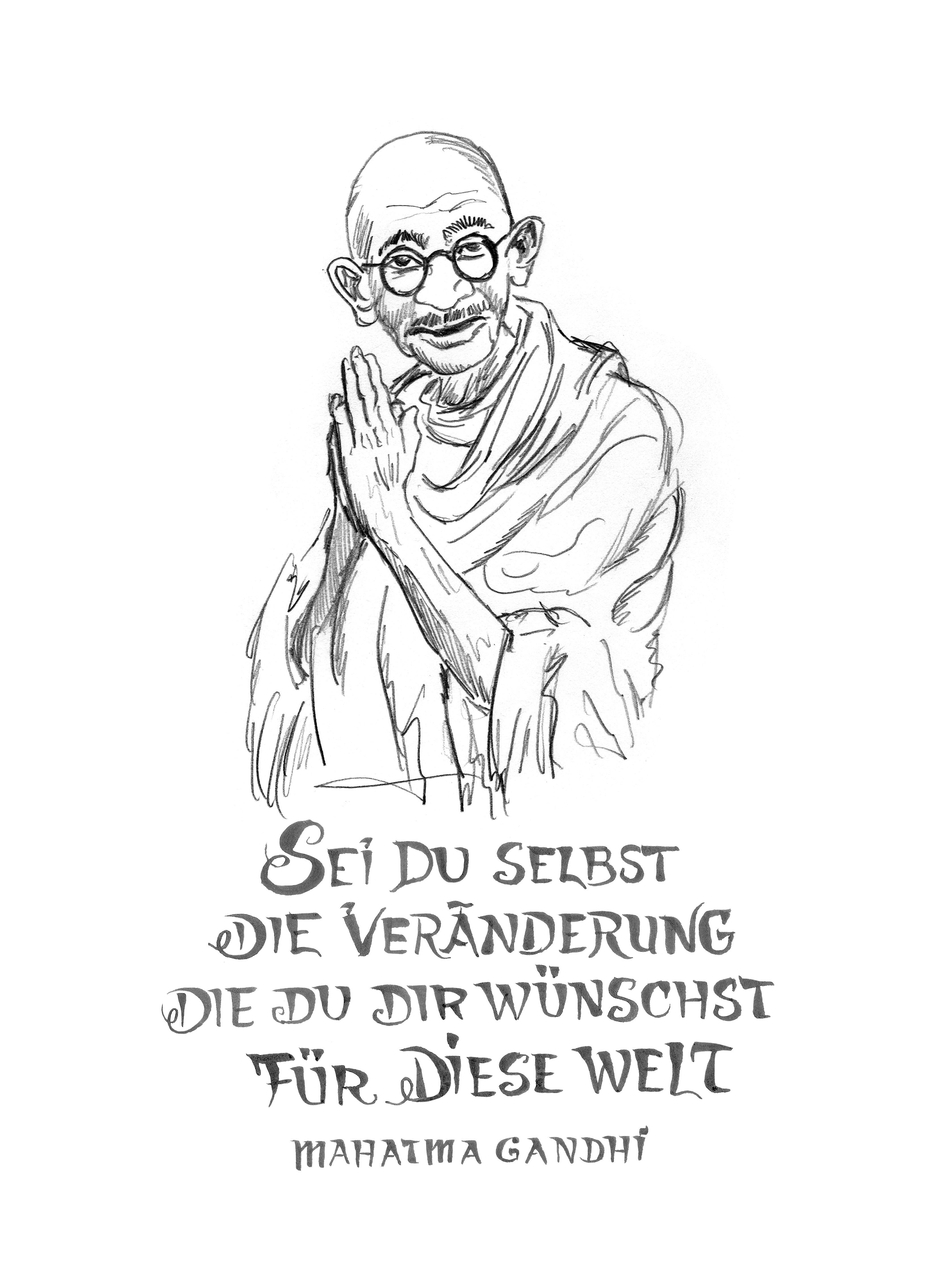 Lesebuch Nachhaltigkeit Mahatma Gandhi Online Praxismaterialien