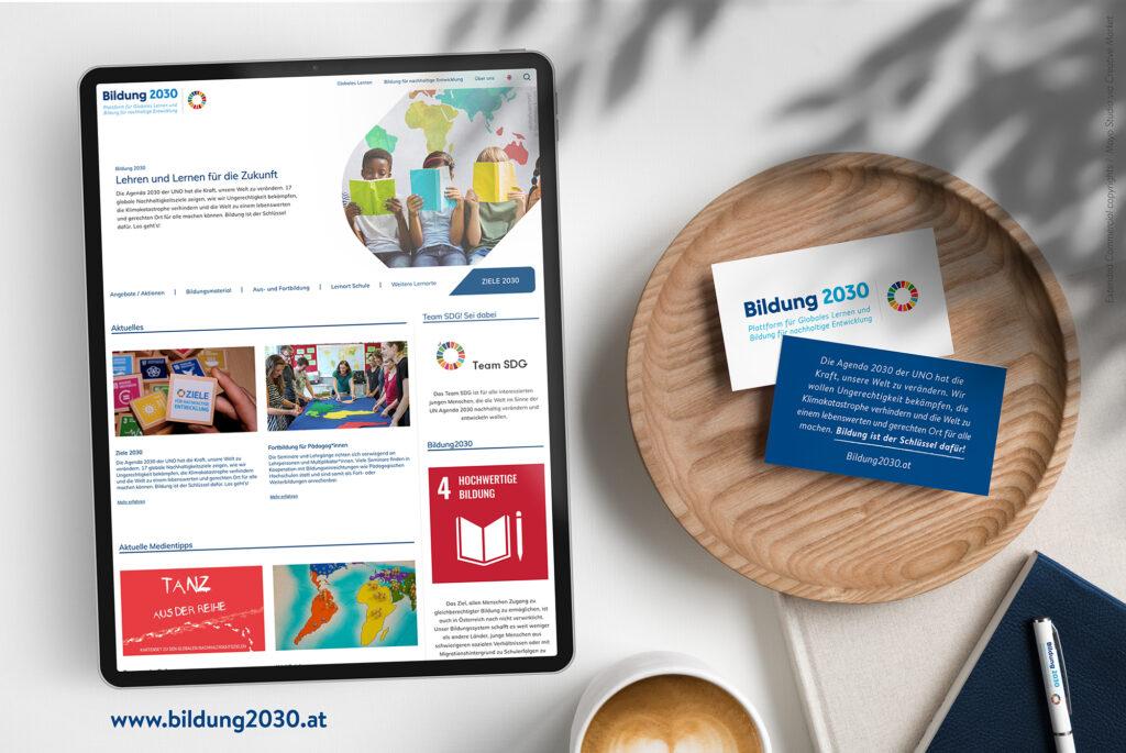 Mockup Website Bildung2030