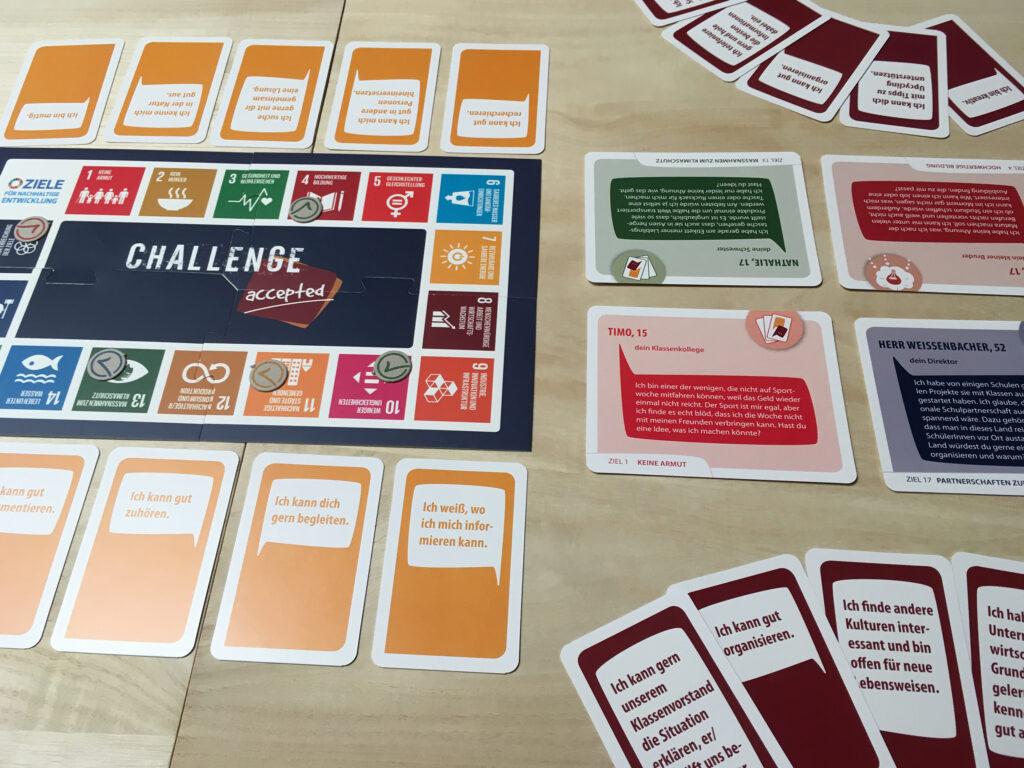 Challenge accepted Spielaufbau