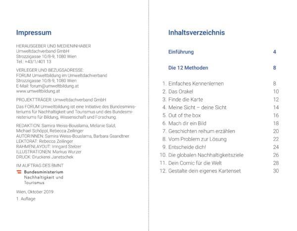 Inhaltsverzeichnis Anleitung Tanz aus der Reihe Kartenset
