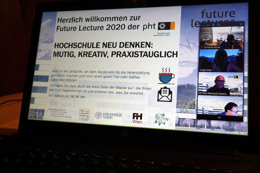 Screenshot der Online-Veranstaltung