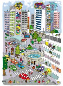 """© """"Wimmelbilder – genauer Blick"""" aus der Lehr-und Lernmappe von ARA4kids: www.ara.at/d/konsumenten/ara4kids/paedagoginnen-und-abfallberaterinnen.html"""