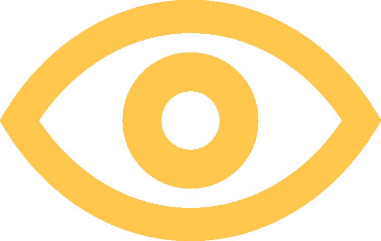 Auge gelb freigestellt